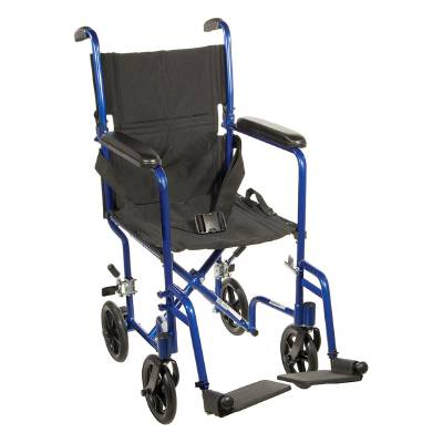 Drive Medical Transport Chair Aluminum 300 lbs. Black, Each - Model ATC19-BL