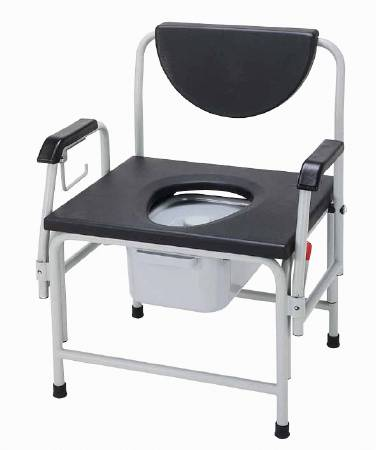 Remarkable Drive Medical Commode Chair Steel Padded Back 18 1 2 Inch Black Each Model 11138 1 Ibusinesslaw Wood Chair Design Ideas Ibusinesslaworg
