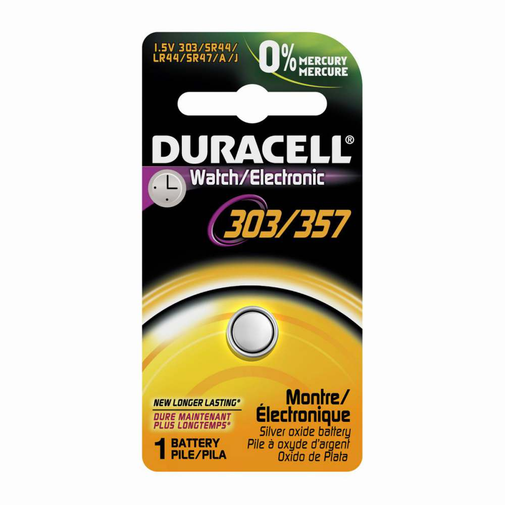 duracell watch battery battery silver oxide 1 5v sz 303 357pk carton of 6 model d303357pk. Black Bedroom Furniture Sets. Home Design Ideas