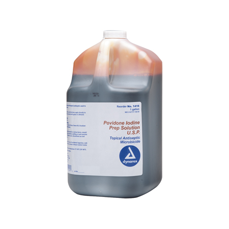 Dynarex Povidone Iodine Prep Solution, Gallon - Model 1416, Each