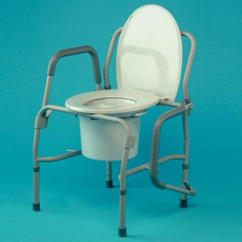 Height Adjustable Drop-Arm Commode - Item #559311