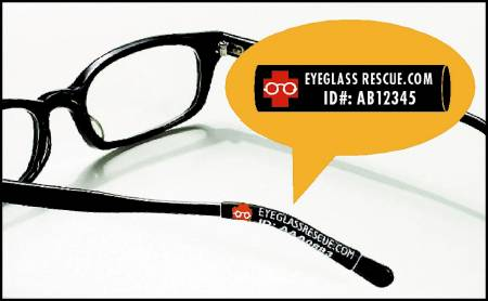 Eyeglass Rescue Identification and Protection Eyeglass Sleeves, Each - Model 1001