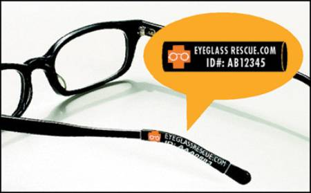 Eyeglass Rescue Identification and Protection Eyeglass Sleeves, Pkg of 25 - Model 1000