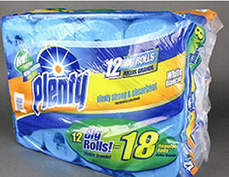 FIRST QUALITY PRODUCTS Towel Paper Plenty 2Ply, Pkg of 12 - Model 2906982