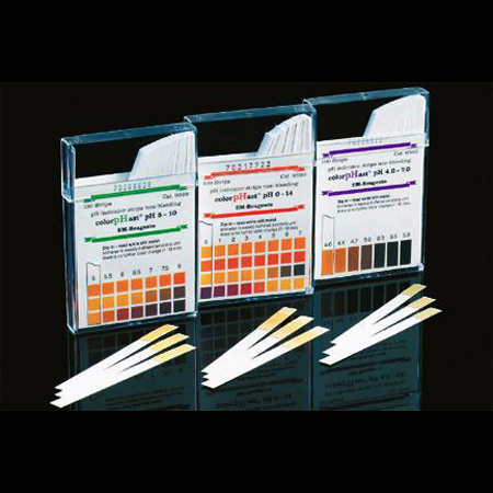 Fisher Scientific EMD colorpHast PH Strips - Narrow Range 4 to 7pH - Model M95823, Box of 100