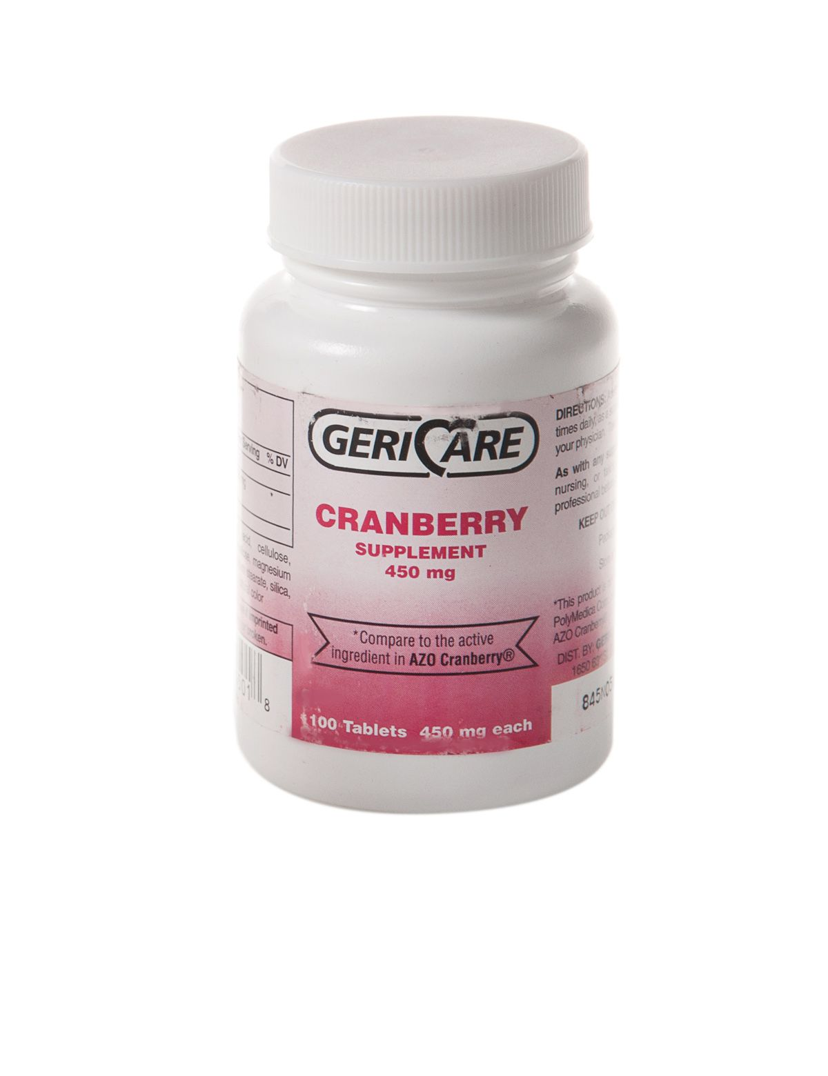 Generic OTC Azo Cranberry Tablet - Cranberry 450Mg Tab 100/Bt, Bottle of 100 - Model OTC84501