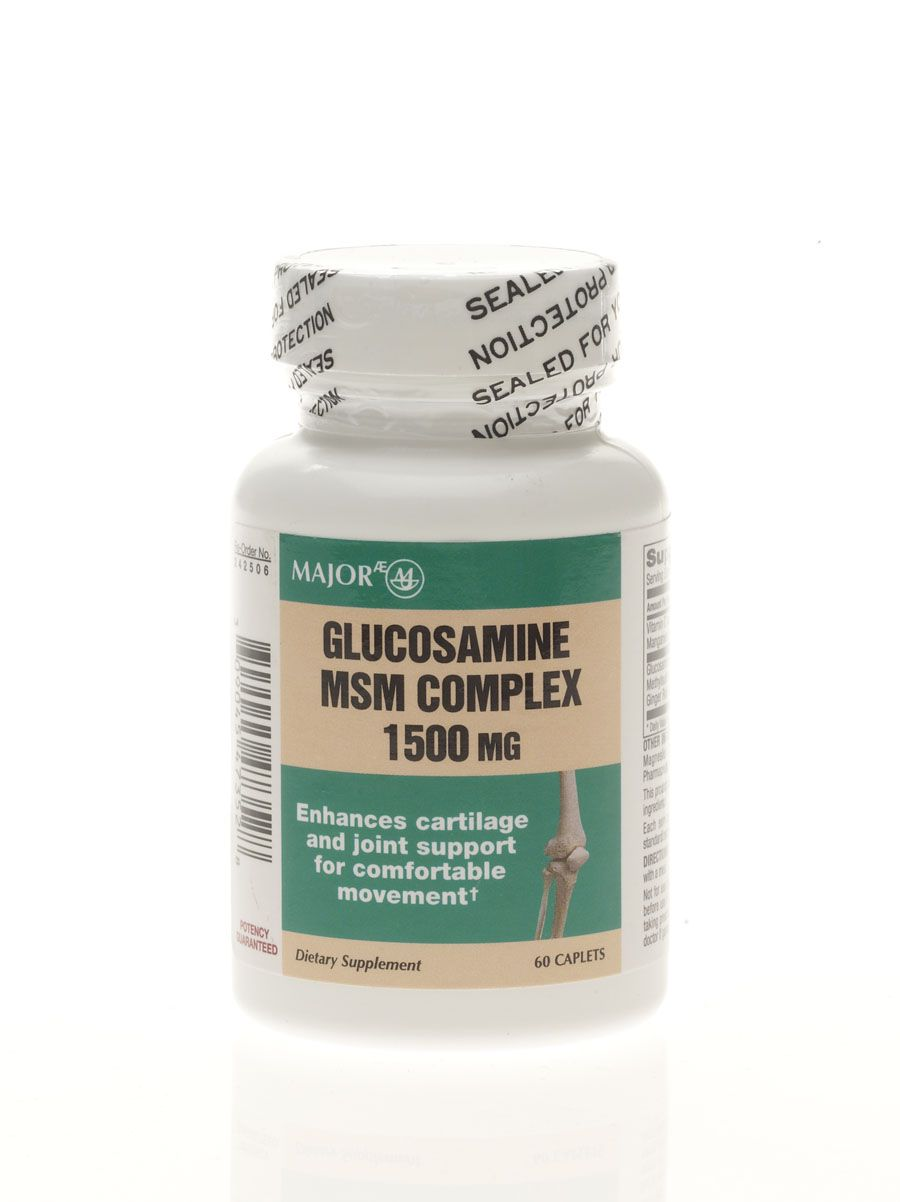 Generic OTC Glucosamine and MSM Capule Glucosamine 500Mg Msm 400Mg Cpl 60/Bt, 1 Bottle - Model 41870N
