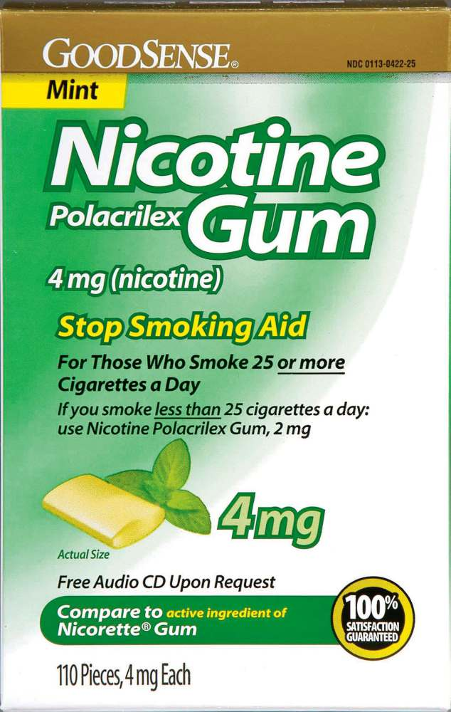 Generic OTC Nicotine Gum, Box of 110 - Model 14734