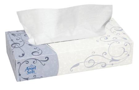 Georgia Pacific Angel Soft ps Facial Tissue, White 7.6 X 8.8 Inch, Pkg of 3000 - Model 48580