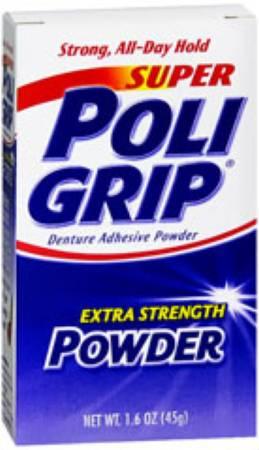 Glaxo Smith Kline Super Poligrip Denture Adhesive, 1.6 oz Powder ...