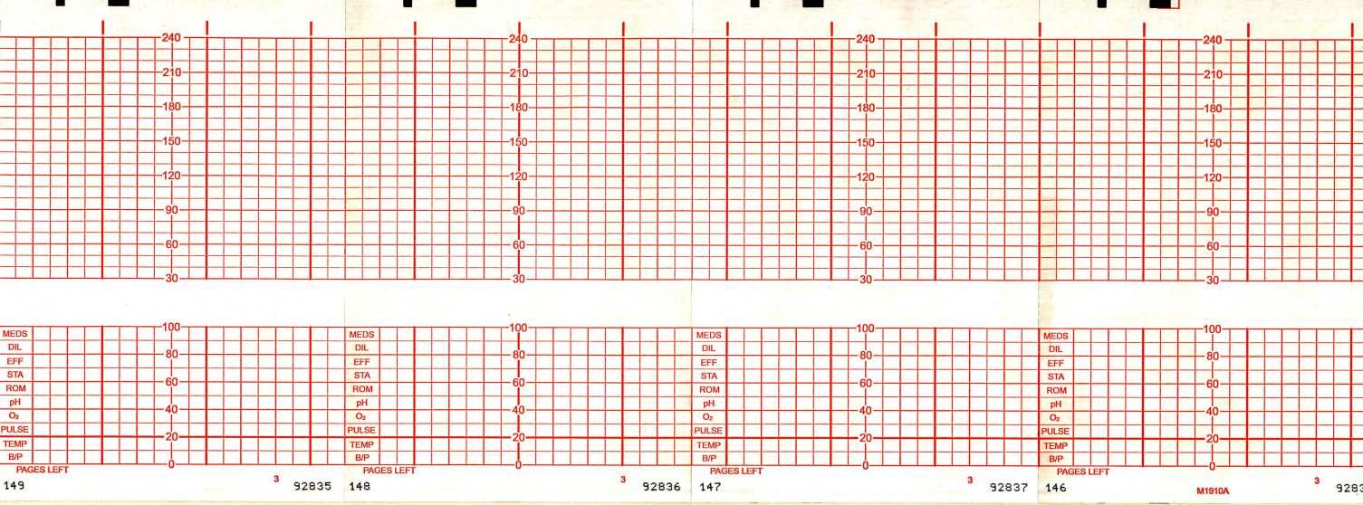 graphic controls recording paper fetal chart hp m1910a each