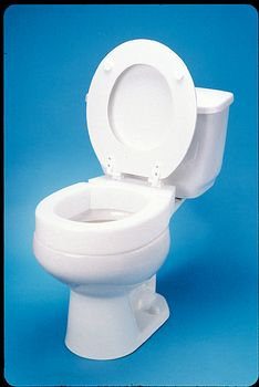 Miraculous Hinged Elevated Toilet Seat Elongated 14 3 4W X 19 1 2L Evergreenethics Interior Chair Design Evergreenethicsorg
