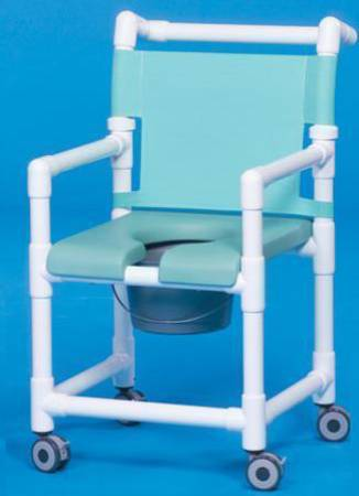 Deluxe Shower Chair, Polyvinyl Chloride With Backrest 17 Inch, Navy, Suncast Blue, Each