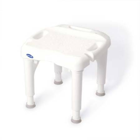 Invacare I-Fit Shower Chair, Without Backrest 15 - 21 Inch, White, Each - Model 9780