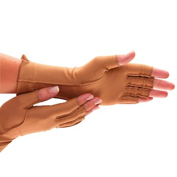 Isotoner Therapeutic Glove - Open Finger, Pair, Large - Item #556597