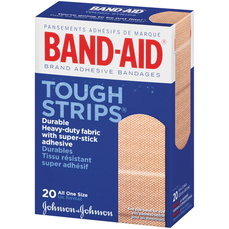 J&J Band-Aid Tough Strips, 1