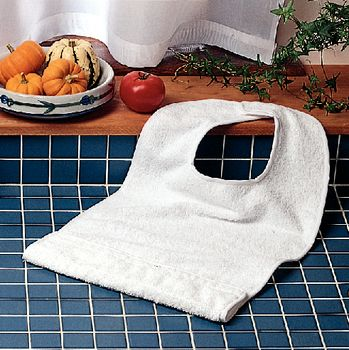 Terry-Cloth Food Catcher - Jumbo, Blue - Package of 3 - Item #920608