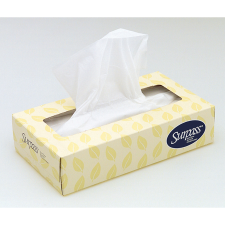 Kimberly-Clark Surpass Facial Tissues - Model 21340-80, Box of 100