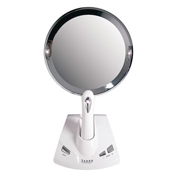 Lighted Power Zoom Motorized Adjustable Magnification Mirror - Item #566377