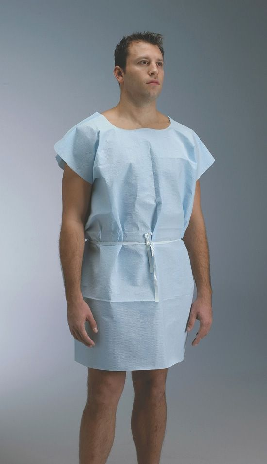 Medline Three-Armhole Examination Gown - Patient, 3 Arm Hole, Blue ...