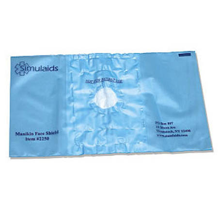 Simulaids Manikin Face Shields - Model 2250, Pkg of 100