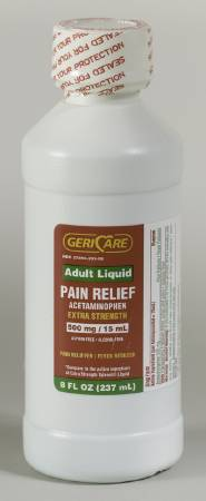 McKesson Pain Reliever, Liquid 8 oz. 500 mg - Model 57896020208
