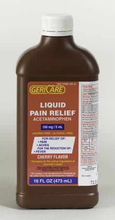 McKesson Pain Reliever, Liquid 16 oz. 160 mg / 5 mL - Model 57896018016