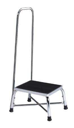 Entrust Performance Step Stool With Handrail Bariatric 1 Step Chrome