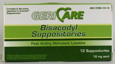 McKesson Laxative, Suppository 12 Suppositories, Box of 12 - Model 57896044412