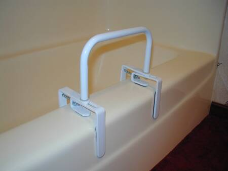 McKesson sunmark Bath Tub Safety Rail, 18L Inch White Steel - Model 131-2727