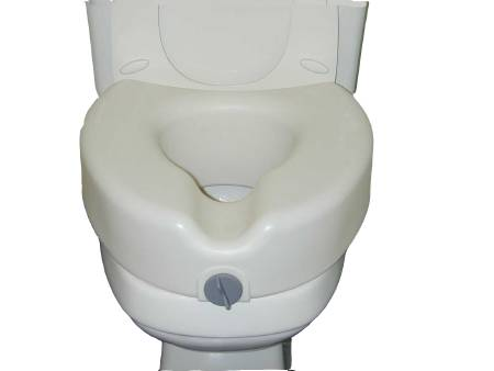 McKesson sunmark Raised Toilet Seat, White 250 lbs. - Model 132-8764