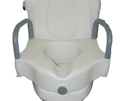 McKesson sunmark Raised Toilet Seat with Armrests, White 250 lbs. - Model 132-7774