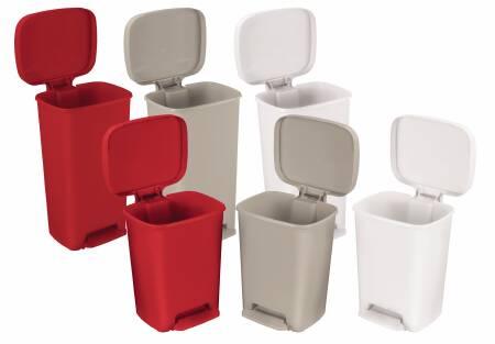 Mckesson Entrust Step On Trash Can 52 Quart Red Plastic 12d X