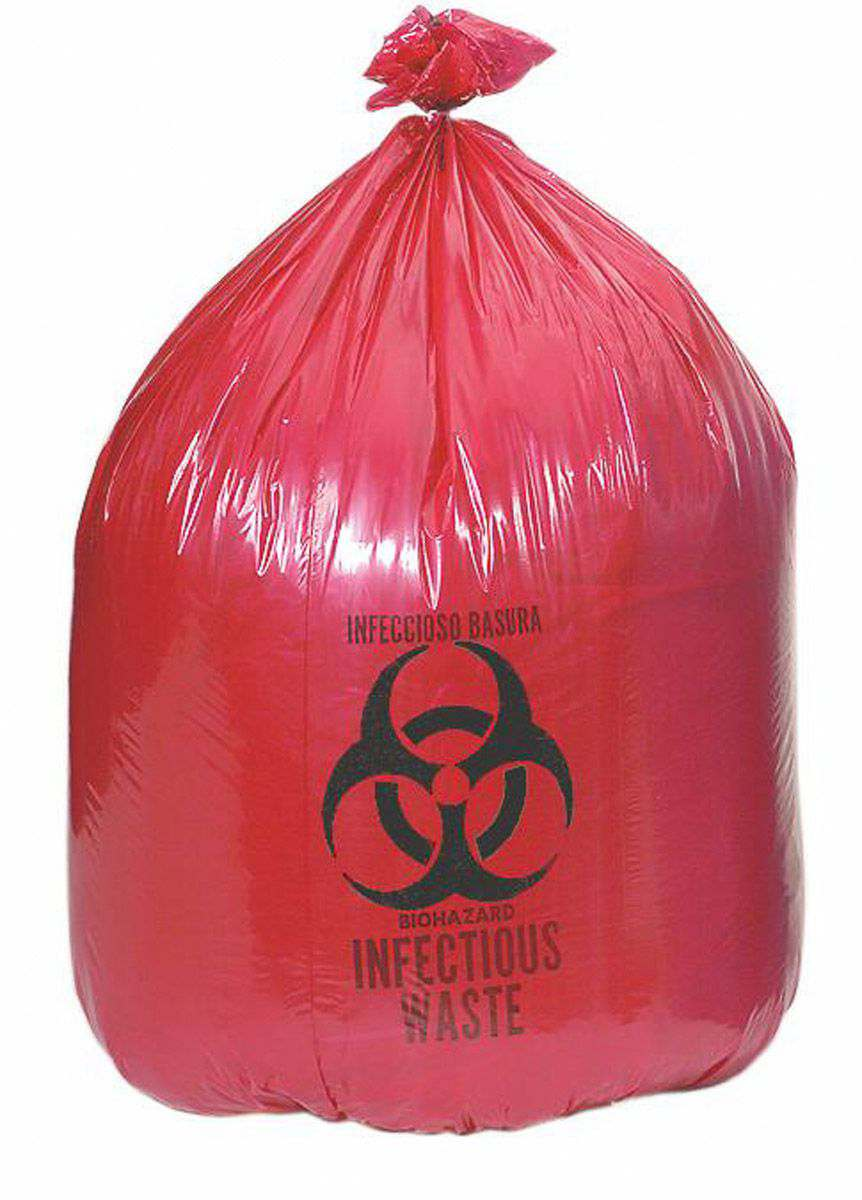 Medi-Waste Systems Biohazard Liner - Drawstring, Red, 40