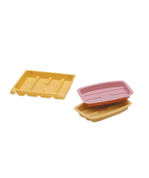 Medical Action Industries Economy Soap Dish - Rectangular, Rose, Each - Model H370-10