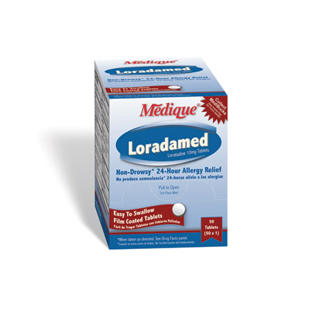Medique Loradamed, 10mg, 50 Pkg of 1