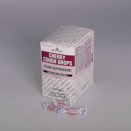 Medique Medi-First Cherry Cough Drops, Box of 50