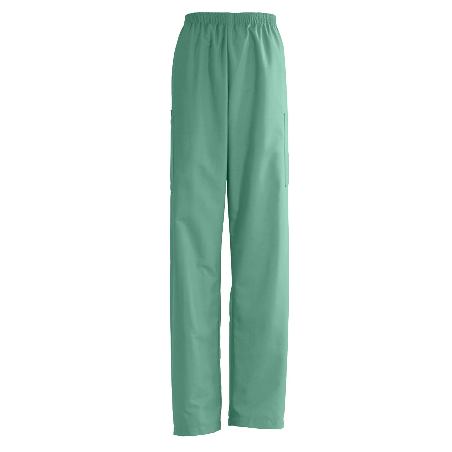 Medline AngelStat Unisex Elastic Waist Cargo Scrub Pants - Jade, Md, Md, Each - Model 674NTJMM
