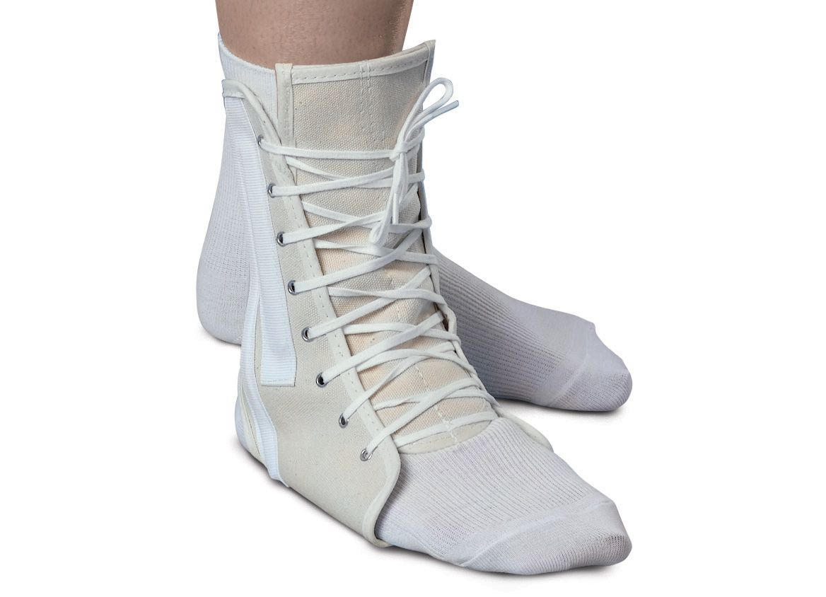 Medline Lace-Up Ankle Support - Canvas, Sm, 8-9