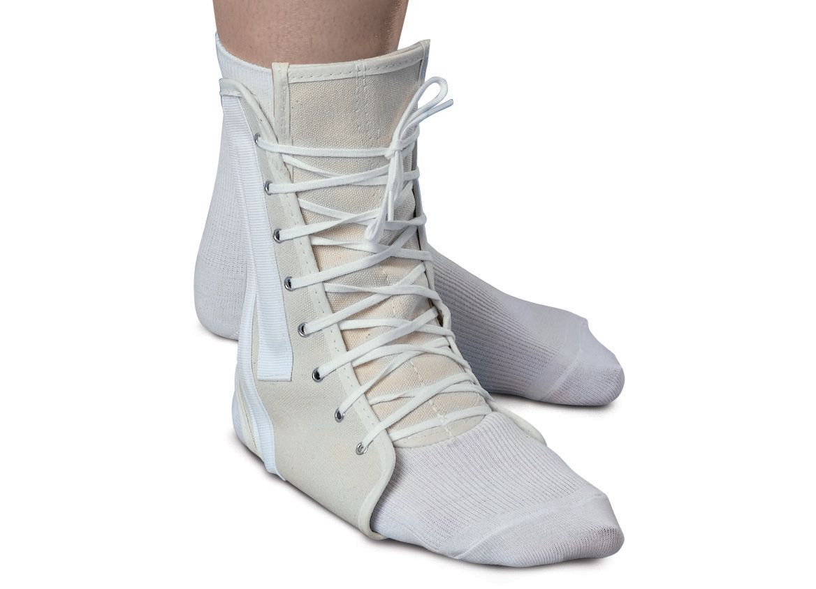 Medline Lace-Up Ankle Support - Canvas, Md, 9-11