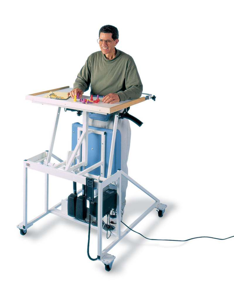 Hausmann height adjustable therapy table stand in lift for Hausmann mobel