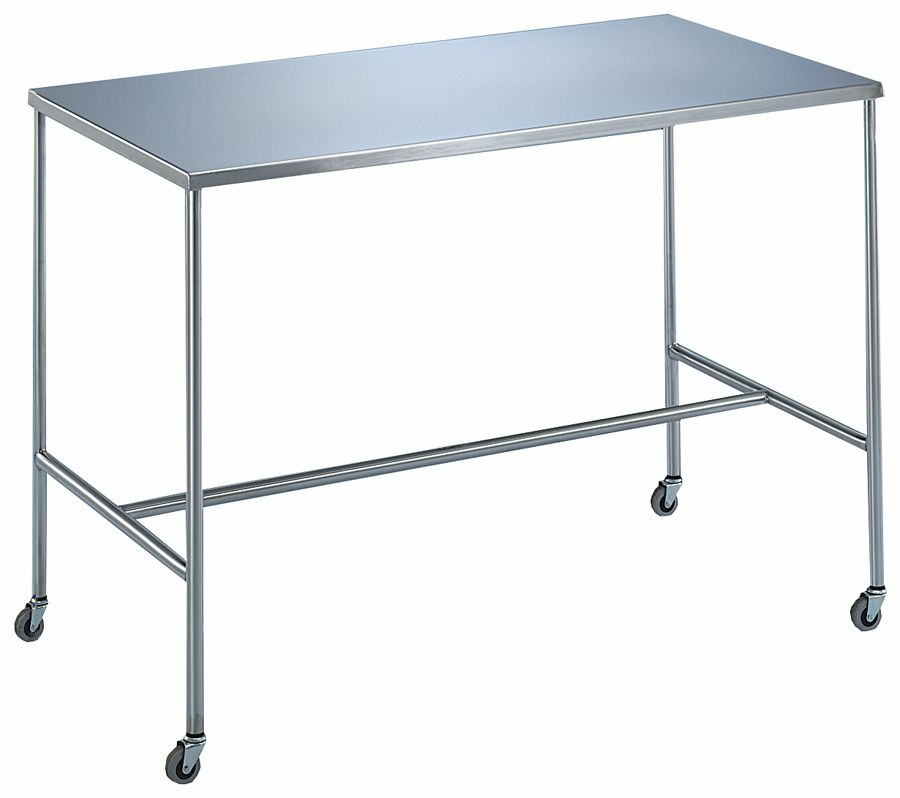 Blickman H-Brace Instrument Table - 60X24X34, H-Brace (7846), Each - Model 127846000
