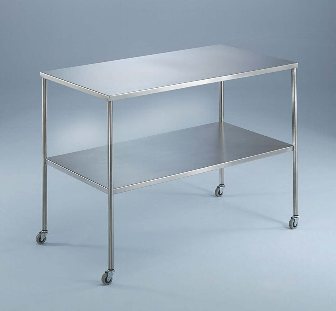Blickman Instrument Tables with Shelf - w/ Shelf, 33X18X34, Each - Model 117831000