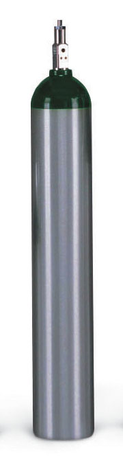 Luxfer Gas Cylinders Lightweight Aluminum Cylinder - Oxygen E Size w/ Wrnch(Me24027), Each