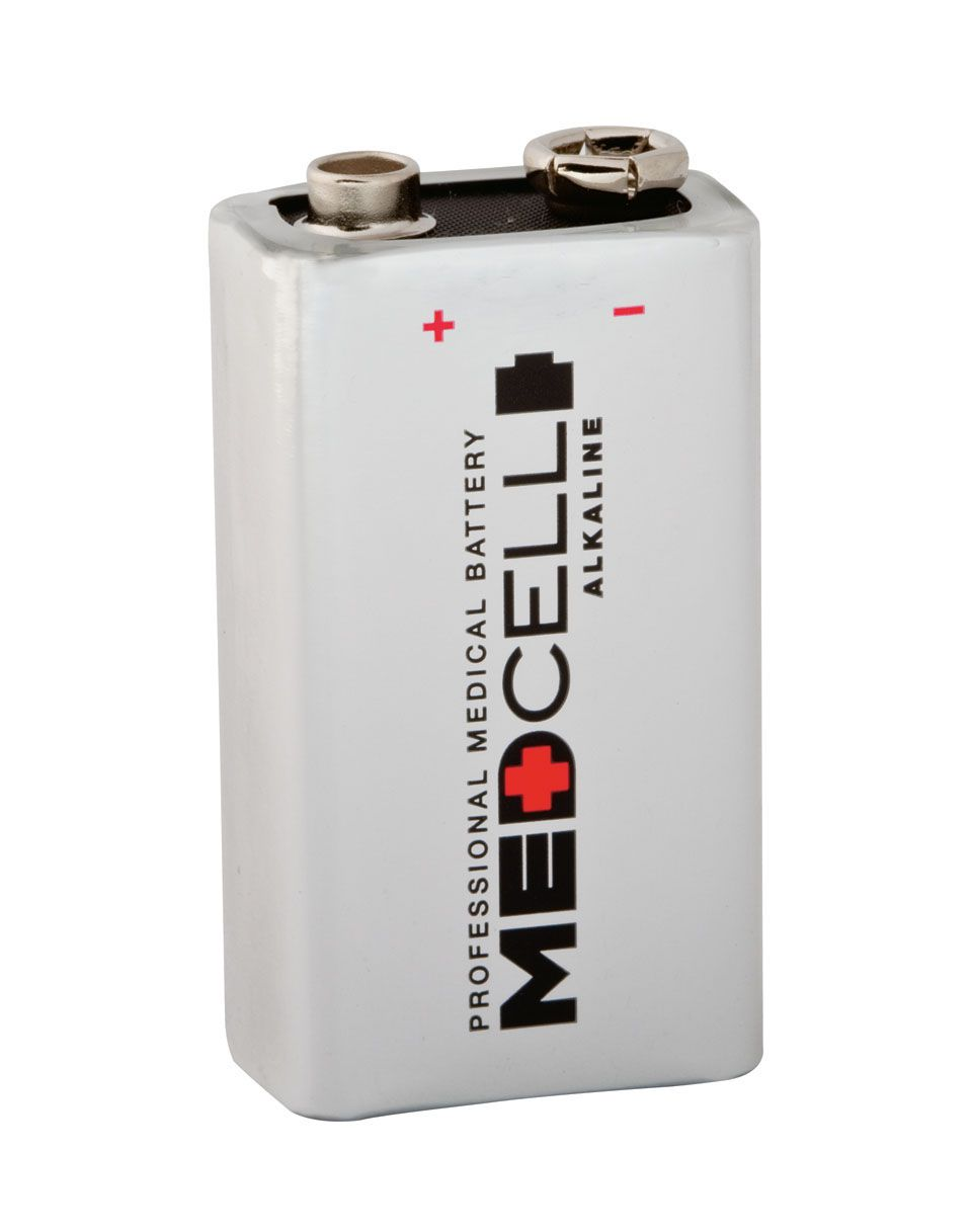Medline MedCell Alkaline Battery - Battery, 9V, Box of 12 - Model MPHB9V