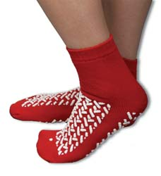 Medline Slipper Socks One Size Fits Most Red Above the Ankle, One Fits Most - Model MDT211218R