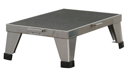 United Metal Fabricators Chrome Stacking Foot Stool - 12X18X6 (Ss8380), Each