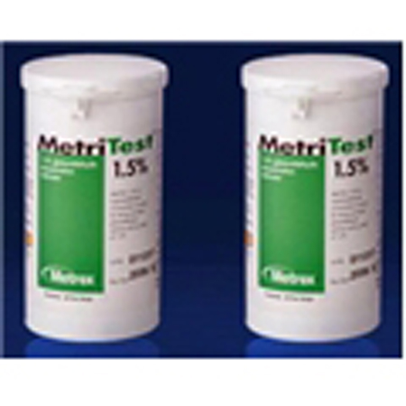 Metrex MetriTest Strips 1.5% - Model 10-303, Case of 2