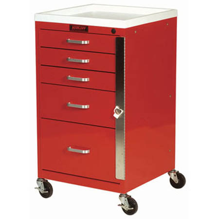 Harloff Mini Line Emergency Cart - Model 3145B, Each