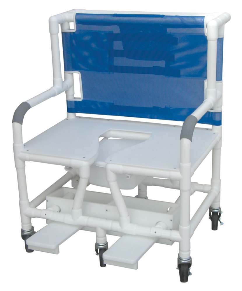 Patterson Medical Folding Bath/Shower Chair - Invacare With Back ...
